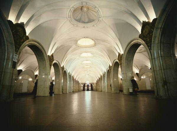 Станция Замоскворецкой линии Московского метрополитена Павелецкая
