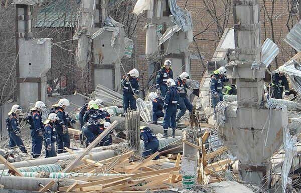 Обрушение строящегося здания на юге Москвы