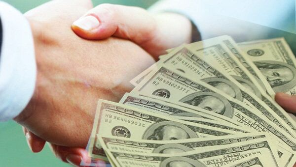 Сделка, доллар, деньги, договор, рукопожатие