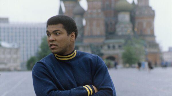 Легендарный американский боксёр Мохаммед Али (Кассиус Маркеллус Клэй) в Москве.