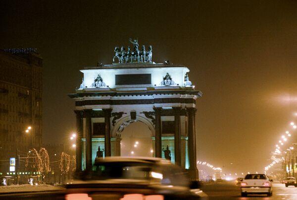 Триумфальная арка на Кутузовском проспекте в Москве