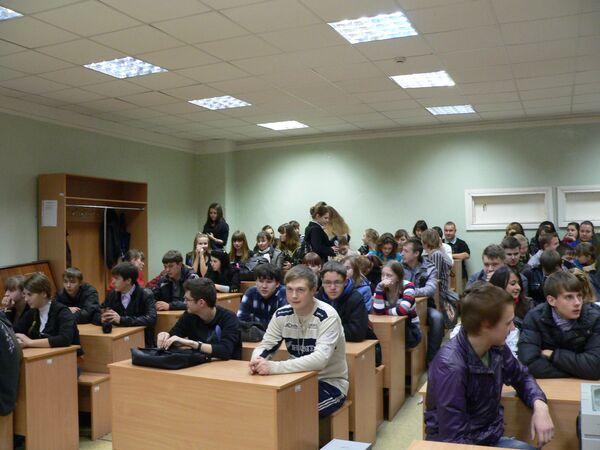 Студенты в аудитории КГУ