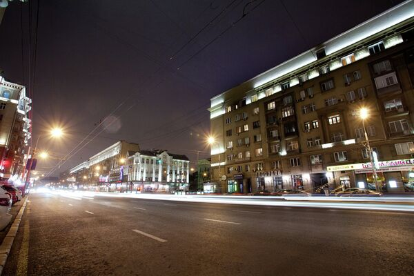 Cамые освещенные места в Москве – проспект Мира