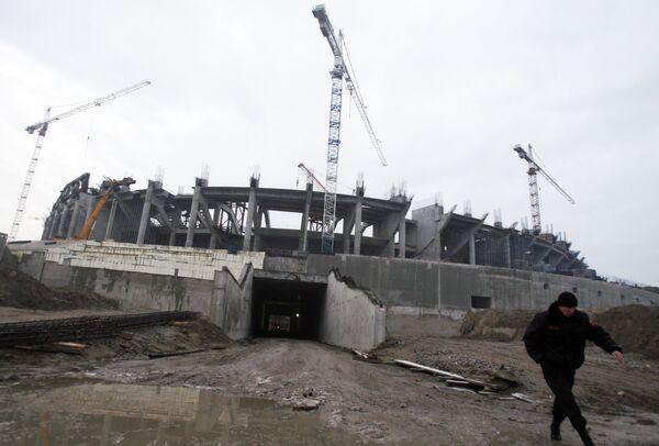 Строительство стадиона Зенит