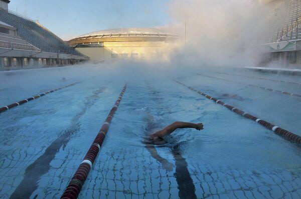 Открытый бассейн спорткомплекса Лужники
