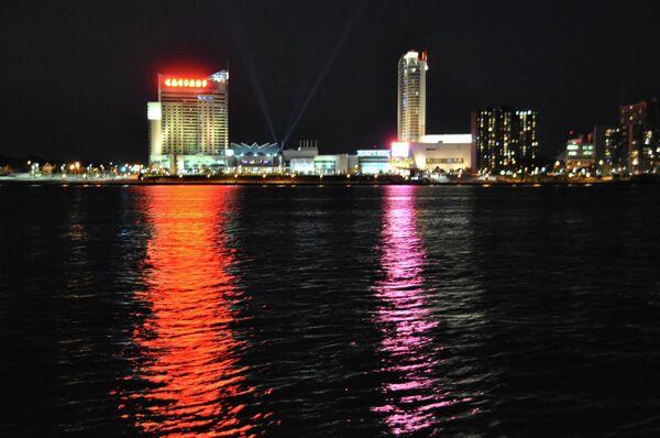 Ночной вид Детройта