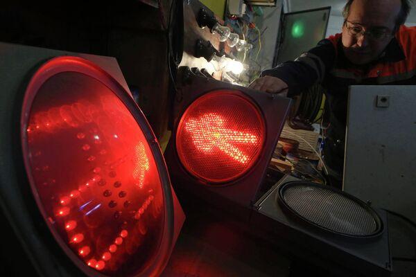 Работы службы организации безопасности дорожного движения