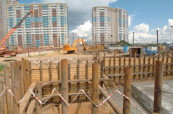 Новый жилой микрорайон в Павшине