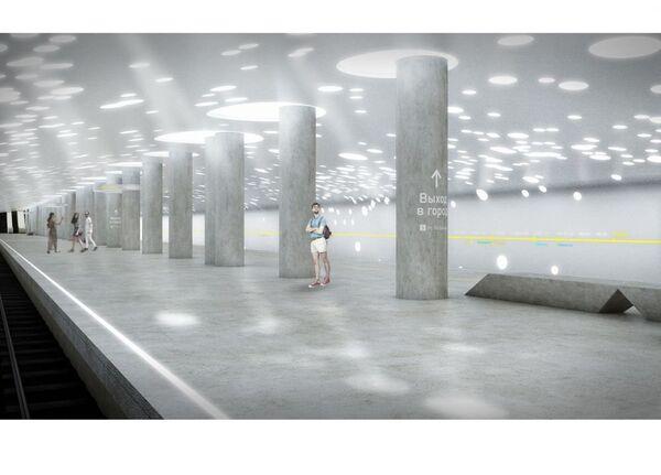 Проект станции метро Солнцево