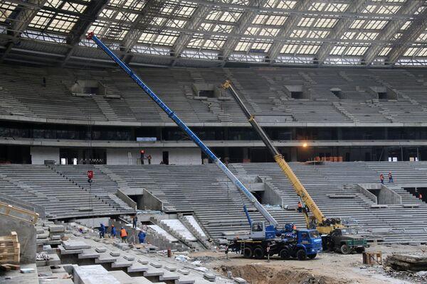 На месте реконструкции Большой спортивной арены Лужники