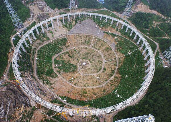 Строительстро радиотелескопа FAST, 2015 год