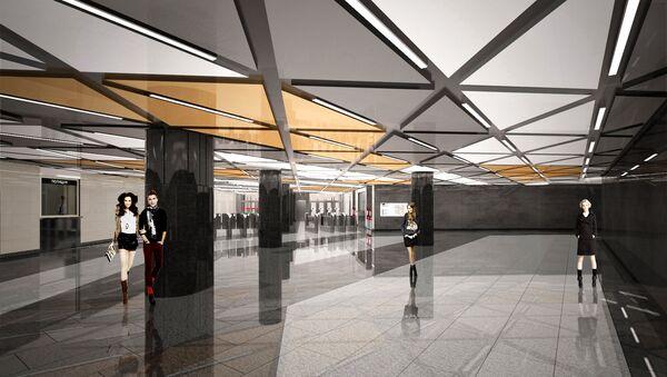 Станция Косино Кожуховской линии метро Москвы. Проект