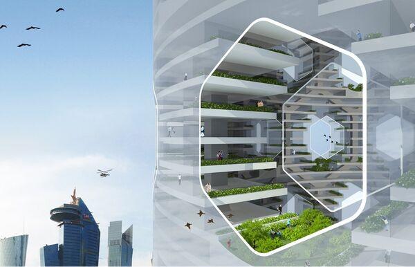 Вертикальный город от Luca Curci Architects