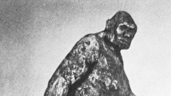 Скульптура Снежный человек. Архивное фото