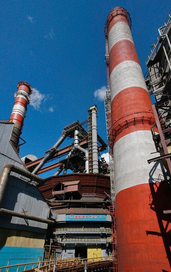 Доменная печь Северянка. Череповецкий металлургический комбинат (ЧерМК)