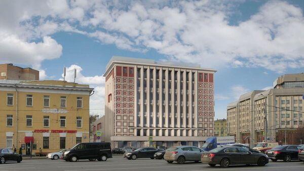 Проект реконструкции комплекса зданий бывшей АТС на Зубовской площади