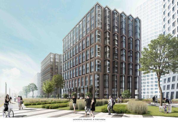 Проект многофункционального жилого комплекса на Симоновской набережной