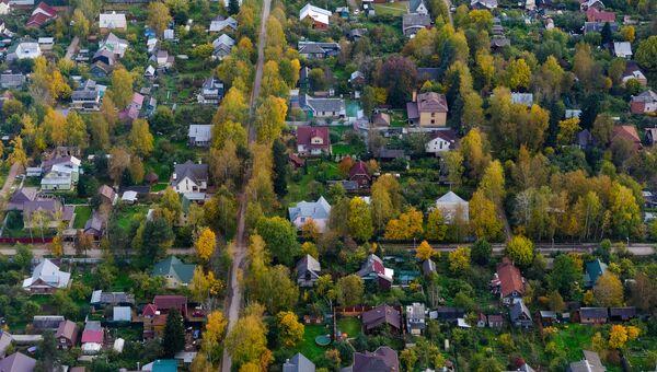 Вид на дачный поселок