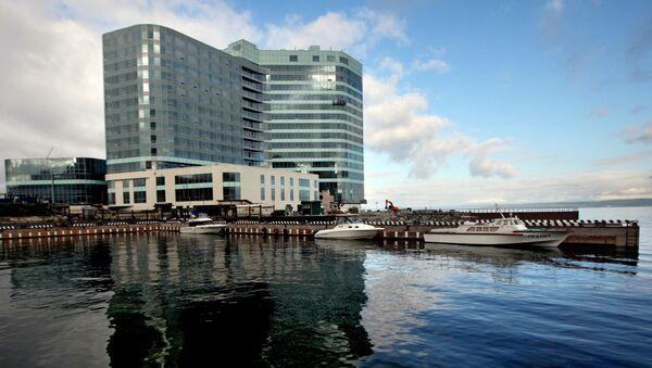 Строительство пятизвездочной гостиницы Hyatt Regency Vladivostok на мысе Бурный во Владивостоке