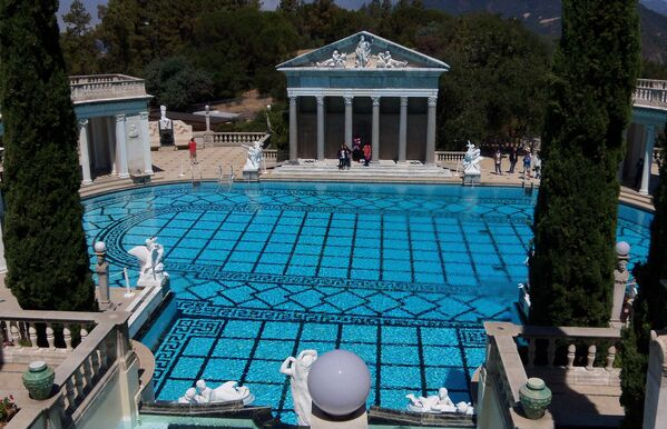Бассейн в Hearst Castle в Сан-Луис-Обиспо, Калифорния
