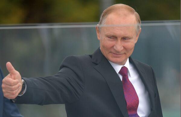 Президент РФ В. Путин принял участие в праздничных мероприятиях, посвященных 870-летию Москвы