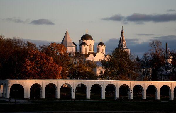 Золотая осень в Великом Новгороде