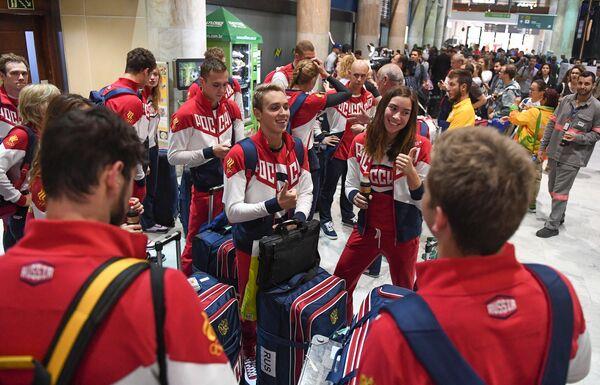 Спортсмены олимпийской сборной России по плаванию