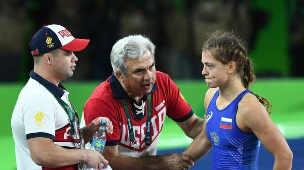 Валерия Коблова, Юрий Шахмурадов и Ирбек Фарниев (справа налево)