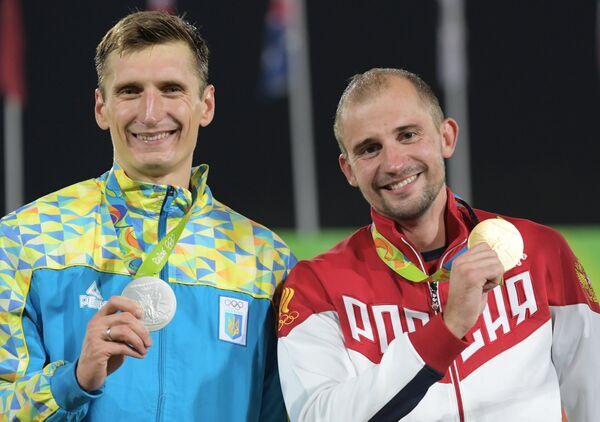 Павел Тимощенко (Украина) и Александр Лесун (Россия) (слева направо)