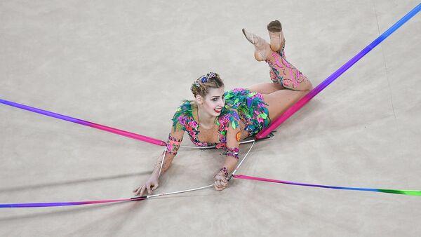 Спортсменка сборной России по художественной гимнастике Анастасия Близнюк