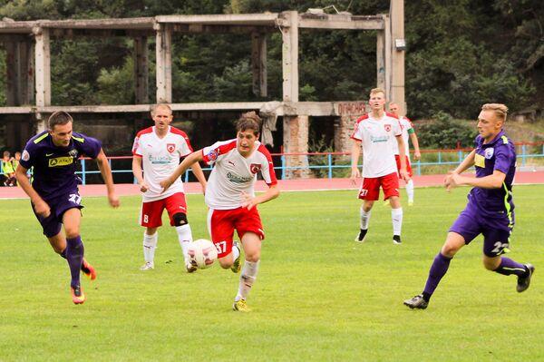 Игровой момент матча Рубин - Севастополь