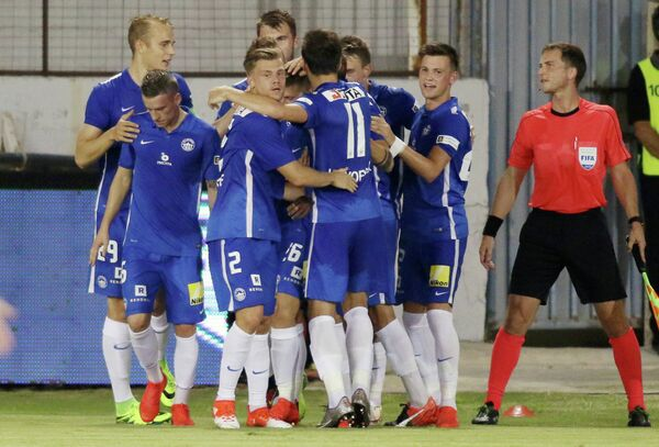 Футболисты чешского Слована
