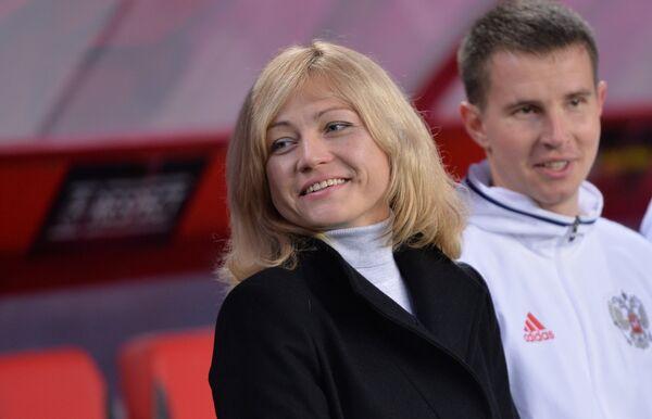 Тренер сборной России Елена Фомина