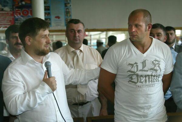 Рамзан Кадыров и Федор Емельяненко (архив, 2008 год)