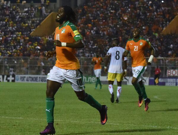 Нападающий сборной Кот-д'Ивуара Жервиньо