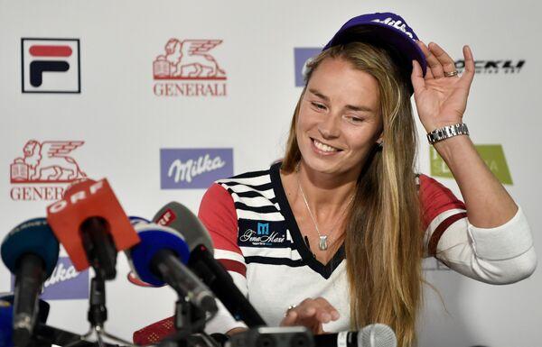 Двукратная олимпийская чемпионка по горнолыжному спорту словенка Тина Мазе