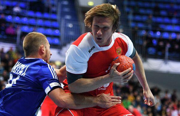 Игрок сборной России Павел Атьман