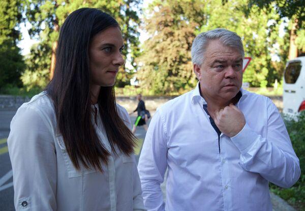 Елена Исинбаева и Михаил Бутов