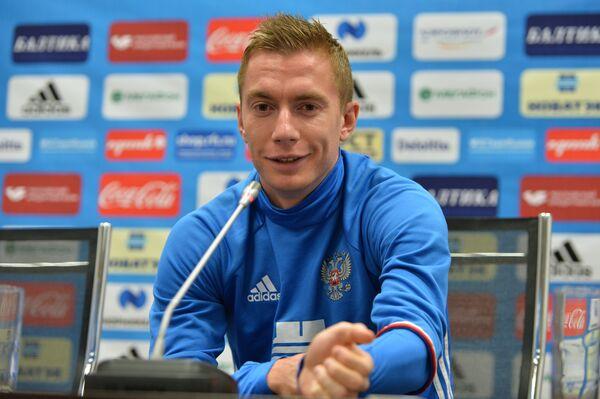 Защитник сборной России Андрей Семёнов