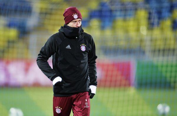 Нападающий ФК Бавария Роберт Левандовски