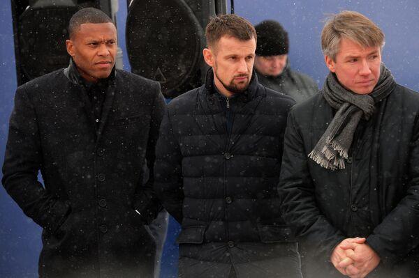 Жулио Баптиста, Сергей Семак и Алексей Сорокин (слева направо)