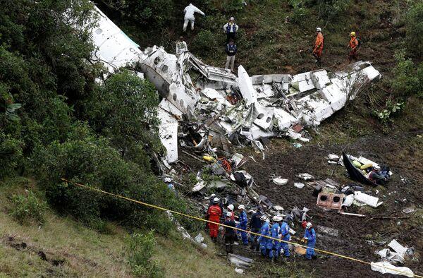 Самолет, на котором разбилась футбольная команда Шапекоэнсе
