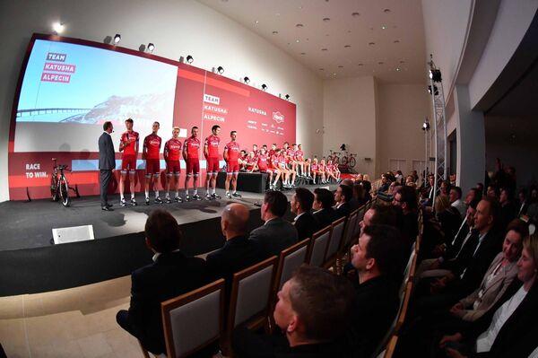 Презентация велокоманды Катюша Alpecin в декабре 2016 года