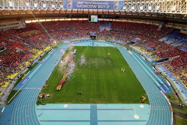 Церемония закрытия XIV чемпионата мира по легкой атлетике в БСА Лужники в Москве