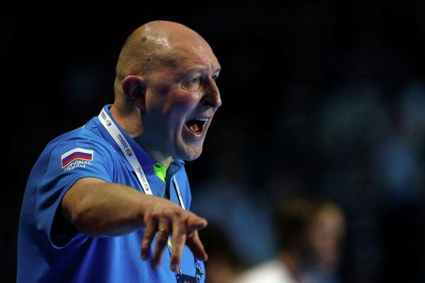 Главный тренер мужской сборной России по гандболу Дмитрий Торгованов