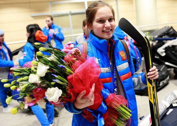 Хоккеистка женской сборной России Елена Дюбина