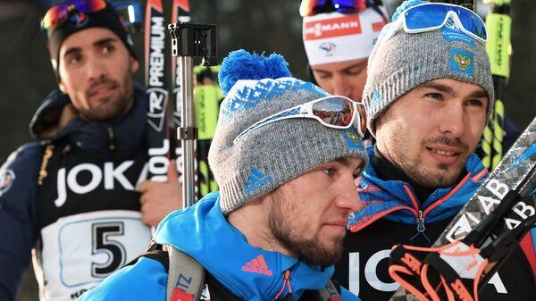 Мартен Фуркад, Александр Логинов и Антон Шипулин (слева направо)