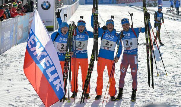 Алексей Волков, Максим Цветков, Антон Бабиков и Антон Шипулин (слева направо)