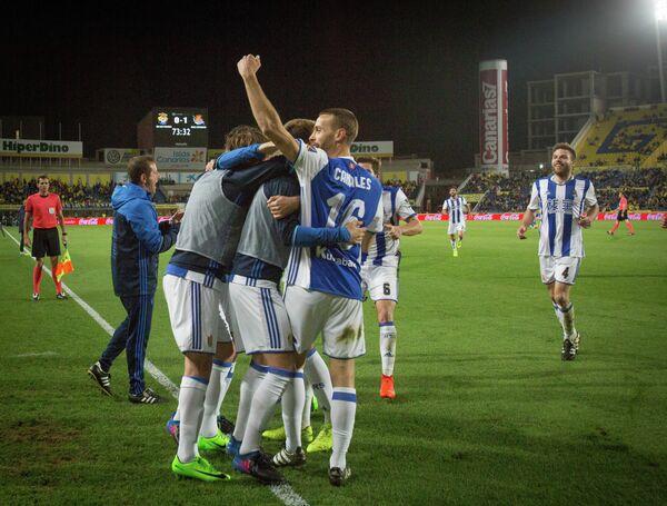 Футболисты испанского клуба Реал Сосьедад