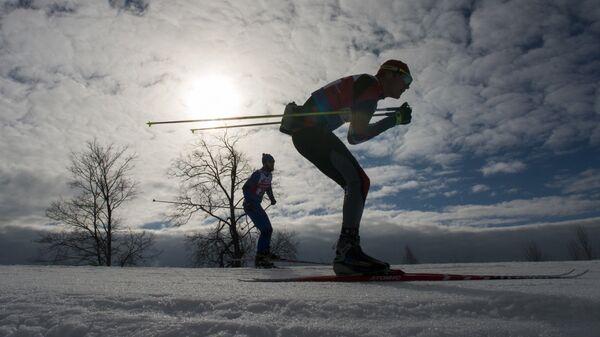 Участник традиционного международного Дёминского лыжного марафона